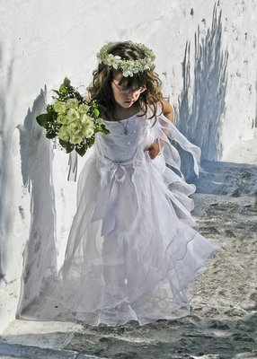 Young Greek Flowergirl