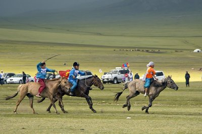 Young Jockeys at the Naadam Festival