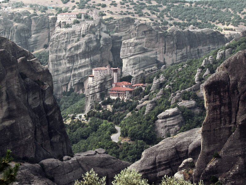 Monastry in Meteora, Greece