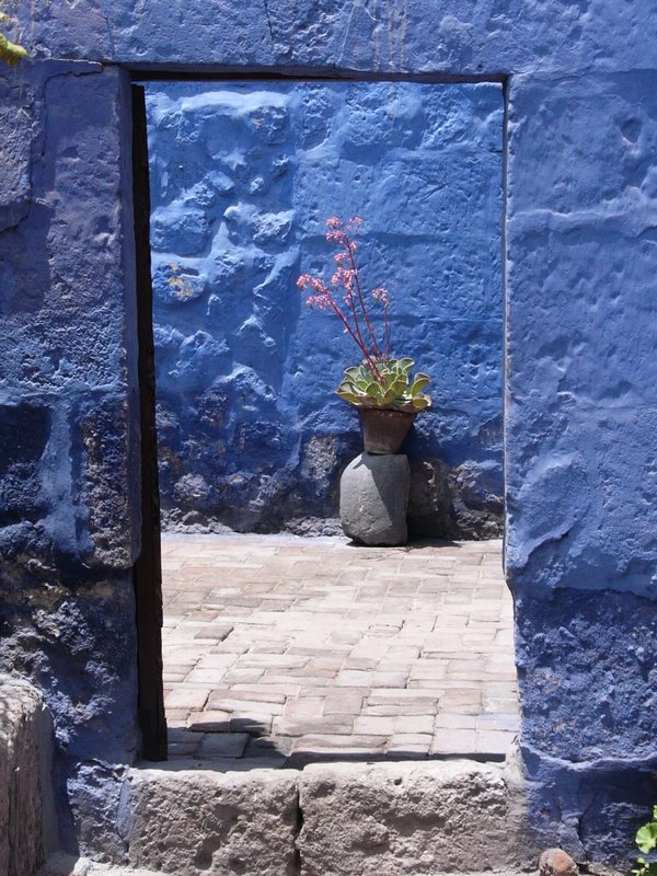 Blue Wall Through a Blue Doorway