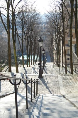 Famous staircase in montmartre