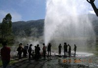 hot spring geyser.