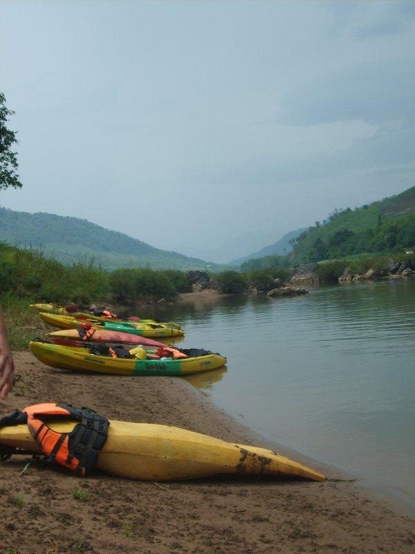 The Beached Kayaks