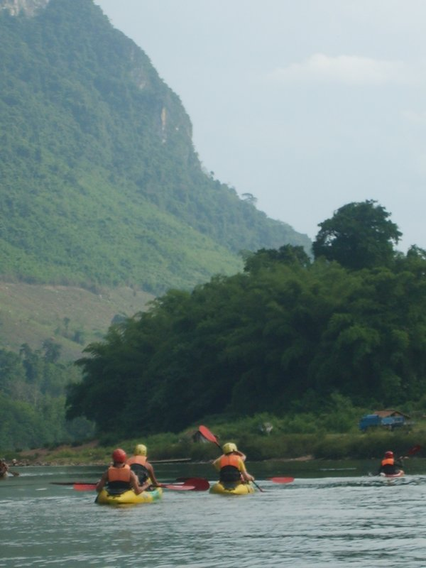 Kayaking in the Scenery