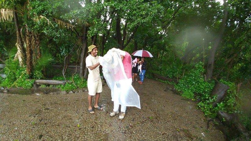 Poncho Troubles at Victoria Falls