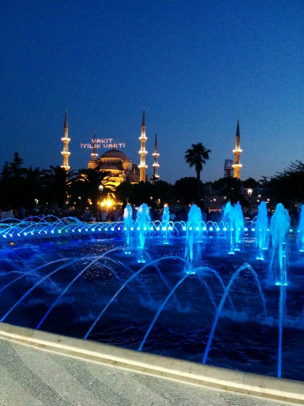 Blue Mosque over Ramadan
