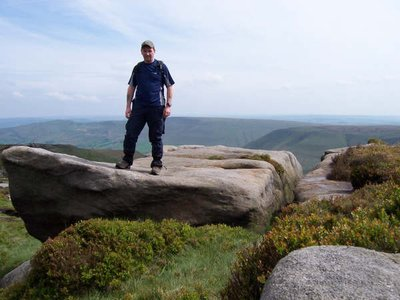 Pete looking on top of the world