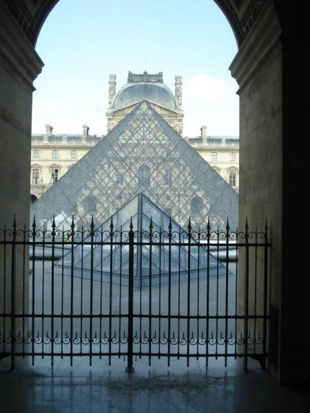 The pyramids of Louvre