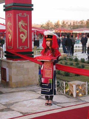 Girl in traditional dress