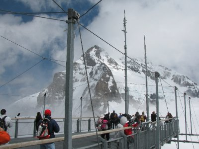 Viewing deck at Jungfrau