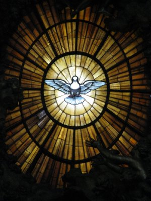 St. Peter's Basilica - stained glass window