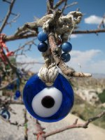 Eye of Allah hanging in a tree