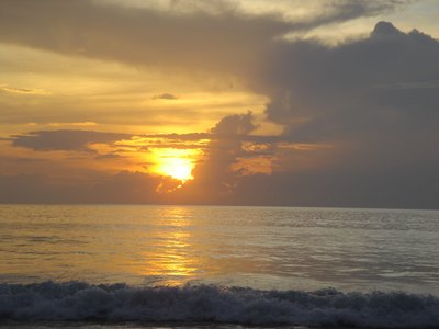 Khao Lak beach at sunset