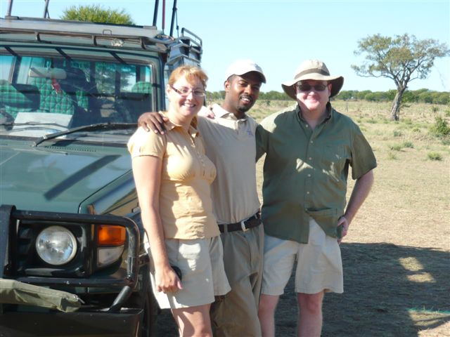 Tanzania - Steve and Ann with Mussa