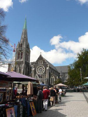 Christchurch - Cathedral square market