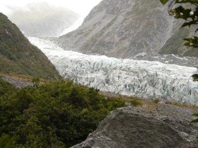 Fox Glacier - First view of Fox Glacier