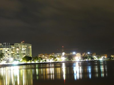 Night time along the esplanade in Cairns