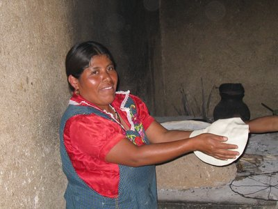 Making tortillas