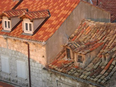 Old vs New Roof, Dubrovnik