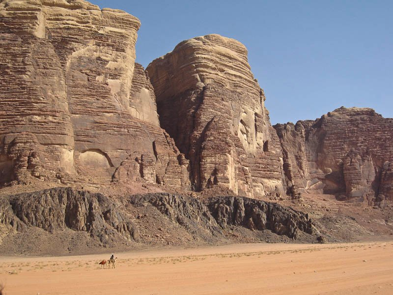 Wadi Rum - with man on camel