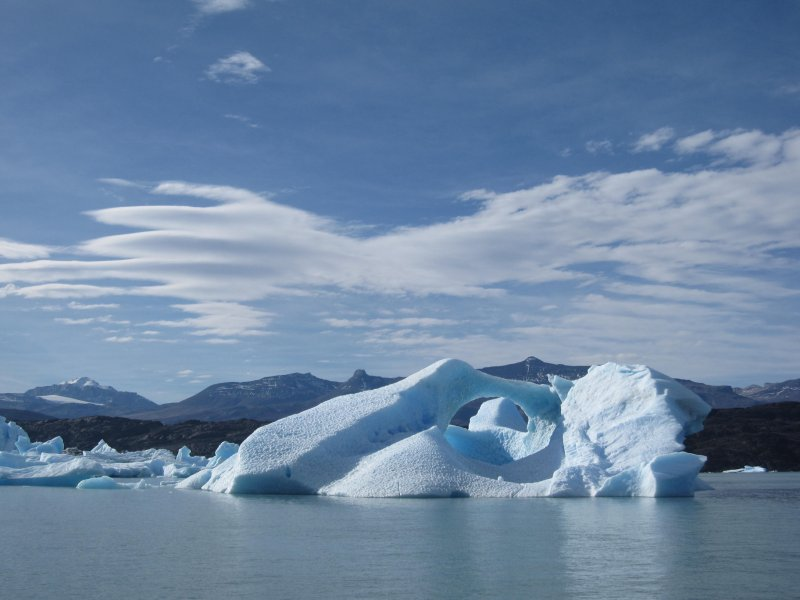 Icebergs of Upsala glacier - circle in the middle