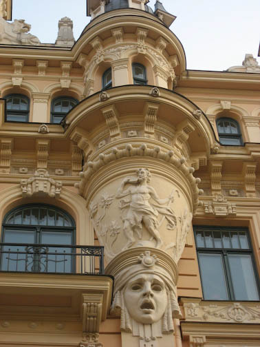 Detail of Art Nouveau building