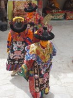 Masked dancers at the Dosmoche Festival for Tibetan New Year 2