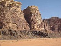 Wadi Rum - with man on camel