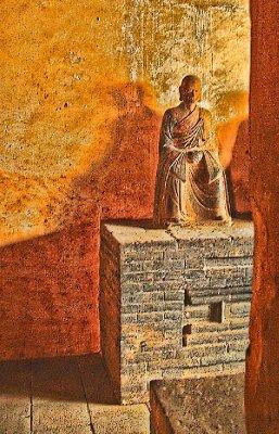 A Brown Buddha image