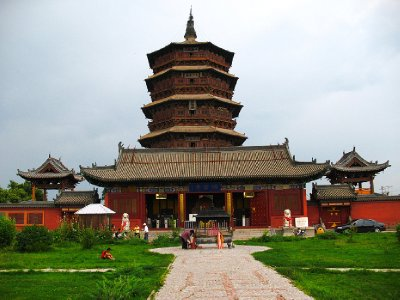 Front view of the complex (Fogong Temple)