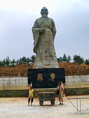 The Huge Yao Statue - work still in progress