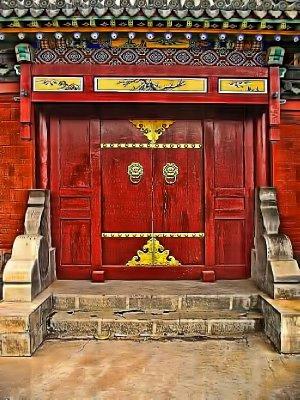 Door into the temple complex