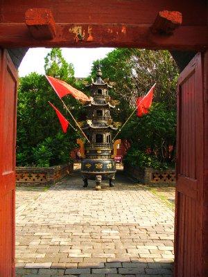 A framed incense Burner