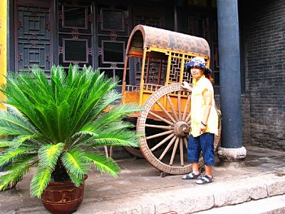 A rickshaw Cart for weddings and other transportation