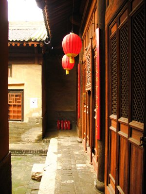 Side view of one of the seven courtyards