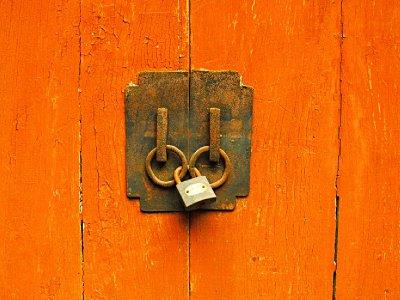 A Modern Rusty Lock
