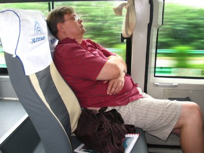 A relaxed bus trip