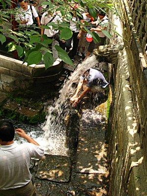 Running spring water