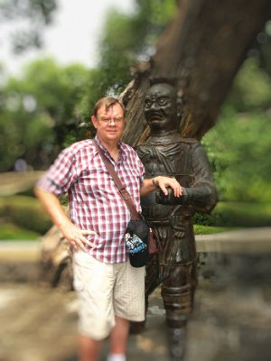 One of the famous cast iron men of Jinci