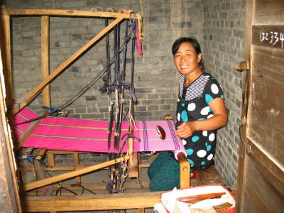 A very friendly local Weaver