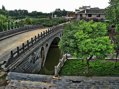 Entrance to Sanhe ancient town