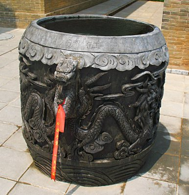 Wrong! This is a freshly carved waterbarrel