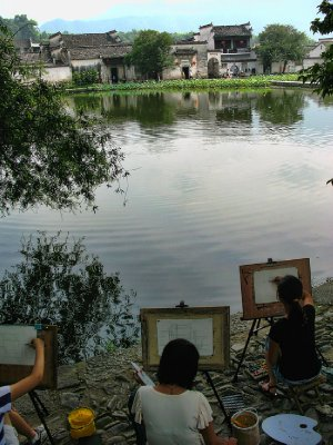 Art students taking advantage of the beauty