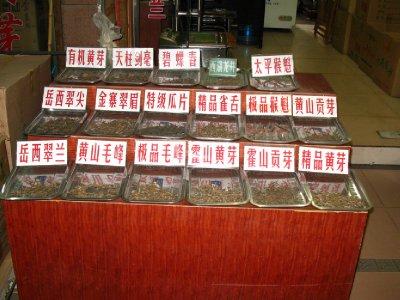 Big variety of tea