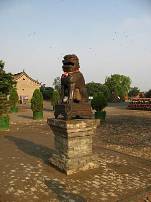 Lion Dogs are a standard feature at all Buddhist temples