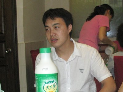 FJ Charles with soy milk