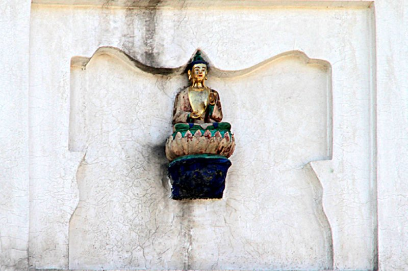 High hanging Buddha image
