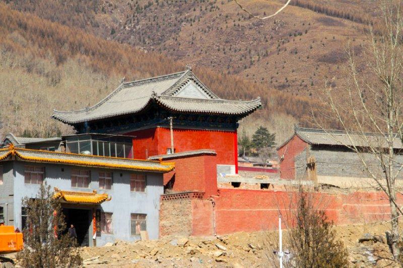 Impressive small red temple