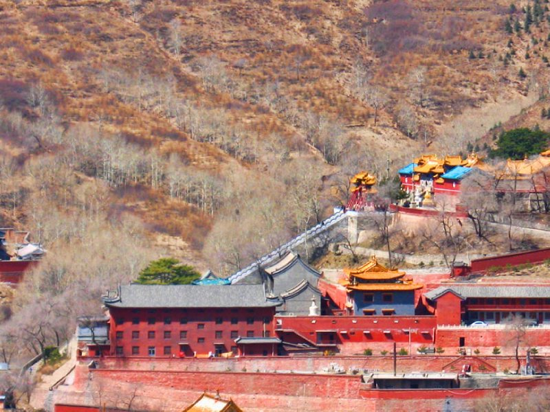 Fantastic view of temple complex in the valley