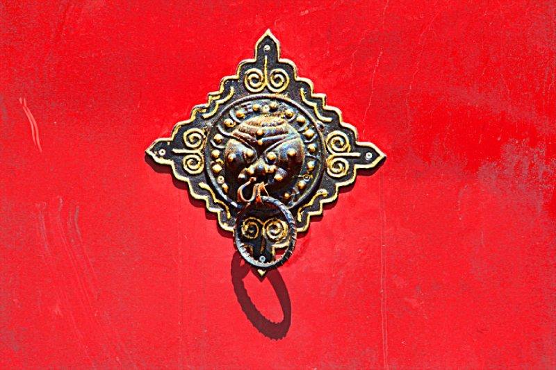 A unique door knocker